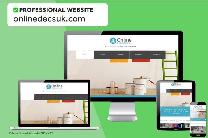 We can build cheap professional websites for £300